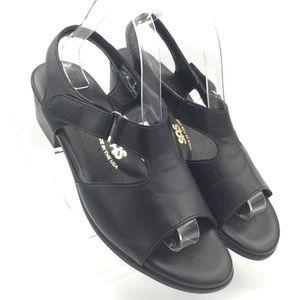 NEW SAS Black Leather Sandals